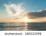 Sun Rising Ove Pacific Ocean  ...
