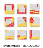 post layout template. editable... | Shutterstock .eps vector #1802229850