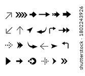 vector illustration of arrows... | Shutterstock .eps vector #1802243926