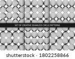 collection of monochrome... | Shutterstock .eps vector #1802258866