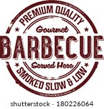 premium bbq barbecue menu stamp | Shutterstock .eps vector #180226064