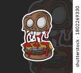 zombie burger illustration  you ...   Shutterstock .eps vector #1802269330