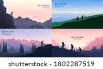 vector backgrounds set. travel...   Shutterstock .eps vector #1802287519