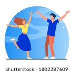 couple meeting after separation.... | Shutterstock .eps vector #1802287609