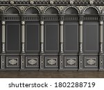 classic interior wall with... | Shutterstock . vector #1802288719