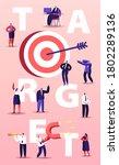 business goals achievement... | Shutterstock .eps vector #1802289136