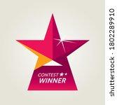 vector award for contest winner   Shutterstock .eps vector #1802289910