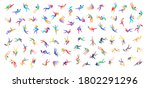 inspired people flying in space ... | Shutterstock .eps vector #1802291296