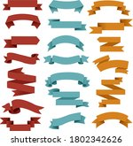 retro web ribbon big set white... | Shutterstock .eps vector #1802342626