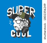 super cool slogan with b w... | Shutterstock .eps vector #1802356249