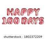 3d illustration metallic pink... | Shutterstock . vector #1802372209