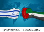 conflict between israel and... | Shutterstock .eps vector #1802376859