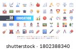 vector of 50 education and... | Shutterstock .eps vector #1802388340