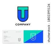 t and u letters. t  u monogram...