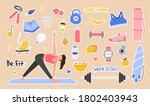 sport set lifestyle concept....   Shutterstock .eps vector #1802403943