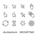 hand clicking icon. collection...