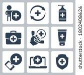 medical and pharmacy vector... | Shutterstock .eps vector #1802408626