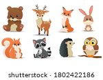 Forest Animals Set. Forest...