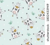 childish seamless pattern with... | Shutterstock .eps vector #1802433949