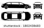 limousine silhouette on white... | Shutterstock .eps vector #1802438683