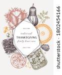 thanksgiving day dinner menu... | Shutterstock .eps vector #1802454166