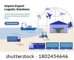 global import export logistic...   Shutterstock .eps vector #1802454646