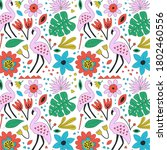 hand drawn background with... | Shutterstock . vector #1802460556