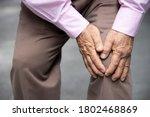 Sick Old Senior Man Suffering...
