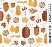seamless pattern. autumn yellow ...   Shutterstock .eps vector #1802471326
