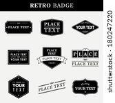 retro badge | Shutterstock .eps vector #180247220