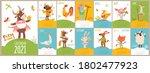 farm animals modern style... | Shutterstock .eps vector #1802477923