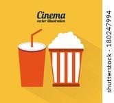 cinema design over orange... | Shutterstock .eps vector #180247994