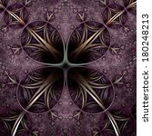 symmetrical purple fractal... | Shutterstock . vector #180248213