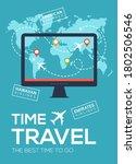 modern travel flyer  poster ... | Shutterstock . vector #1802506546