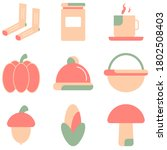 vector set of autumn  flat...