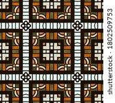 bohemian tribal watercolor... | Shutterstock . vector #1802509753
