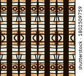 geometric bohemian ethnic... | Shutterstock . vector #1802509759