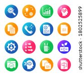 business and glyph circle icons ... | Shutterstock .eps vector #1802525899