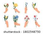 bundle of hands holding... | Shutterstock .eps vector #1802548750