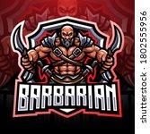 barbarian esport mascot logo... | Shutterstock .eps vector #1802555956