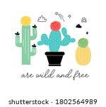 Typography Slogan Cactus....