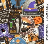 Halloween Patches Colorful...