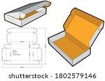 cardboard box for sending mail. ... | Shutterstock .eps vector #1802579146
