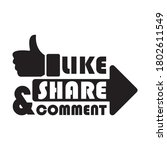 like comment share icon design   Shutterstock .eps vector #1802611549