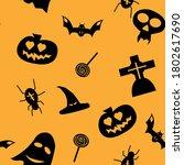halloween seamless pattern...   Shutterstock .eps vector #1802617690