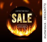limited time sale banner with... | Shutterstock .eps vector #1802624773
