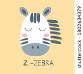 Cute Baby Zebra Face Kids Zebra ...