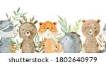 Watercolor Forest Wildlife...