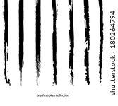 vector set of grunge brush... | Shutterstock .eps vector #180264794
