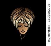beautiful afro american woman... | Shutterstock .eps vector #1802652703
